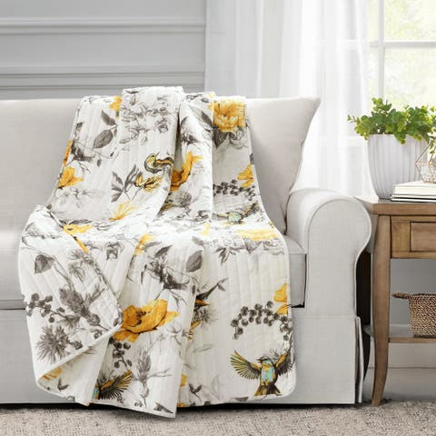 Lush Decor Penrose Floral Throw Blanket