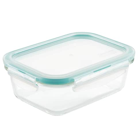 Lock and Lock Purely Better Glass Rectangular Food Storage, 21oz