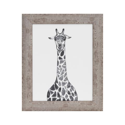 """""""Giraffe"""" Framed Under Glass - 14.25W x 17.25H x .71D"""