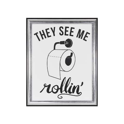 """""""They See Me Rollin"""" Framed Under Glass - 12.5W x 15.5H x 0.98D"""