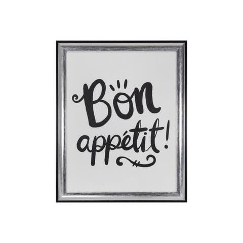 """Bon Appetit"" Framed Under Glass - 12.5W x 15.5H x 0.98D"