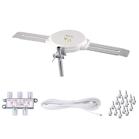 Lava HD8008 Omnidirectional Outdoor TV Antenna + Installation Kit [Open Box Like New]