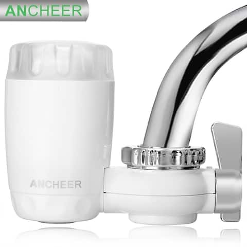 ANCHEER Home Kitchen Supplies Tap Faucet Ceramic Water Purifier Filter System White