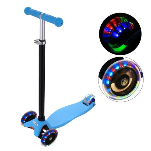 New Aluminum Alloy Kick Scooter T Style Handle Bar Best Gifts for Children Kids Boys Girls - N/A