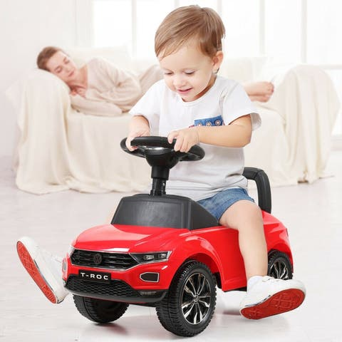 Kids Riding Toy Ride On Push Car Foot To Floor Stroller Baby Toddler