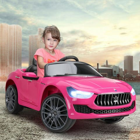 12V Kids Maserati Ghibli Ride On Electric Toy Car With Remote Control
