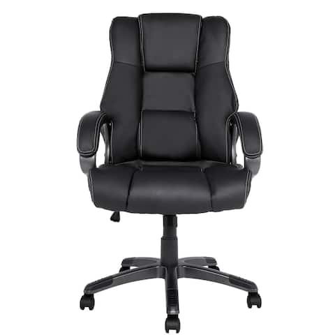 Homdox Ergonomic PU Leather High Back Office Chair with Armrests
