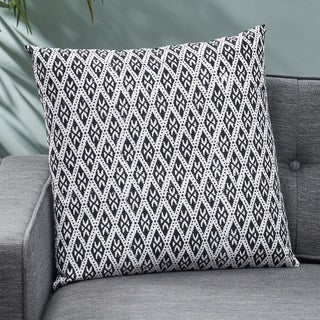 Mirabel Modern Fabric Throw Pillow Cover by Christopher Knight Home
