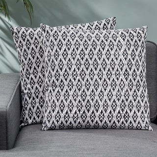 Mirabel Modern Fabric Throw Pillow Cover (Set of 2) by Christopher Knight Home