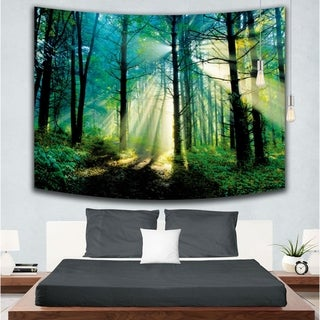 Forest Tree Tapestry Wall Hanging Nature Scene Landscape Wall Blanket Home Decor for Dorm Living Room Bedroom - 59 * 79 inch