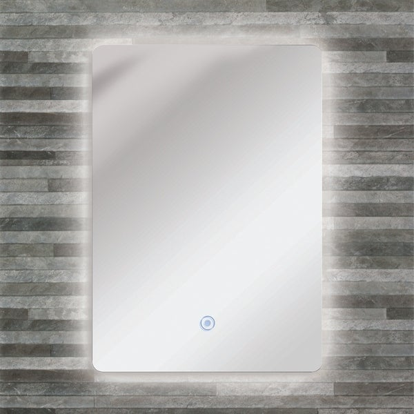 Transolid Skylar LED-Backlit Contemporary Mirror with Touch Sensor