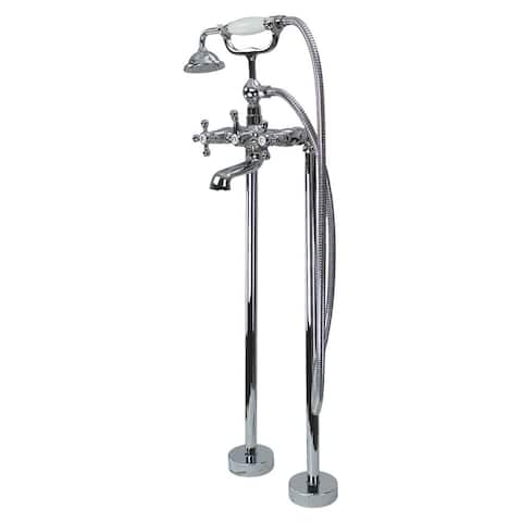 "Transolid Cromwell Free Standing Tub Filler With Hand Shower - 10.91"" x 5.52"" x 36.3"""