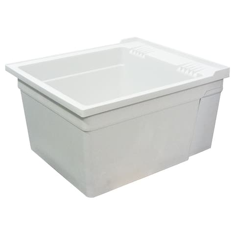 """Transolid 22.375-in W x 26-in D x 14-in H Wall-Mounted Laundry Tub, in Grey - 22.38"""" x 26"""" x 14"""""""