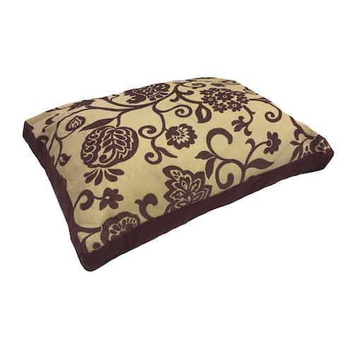 BARK-O-PEDIC Climbing Vines Chocolate Plush Medium to Large Pet Bed