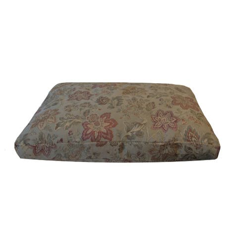 Westgate Gold Woven Plush Floral Pattern Medium to Large Pet Bed