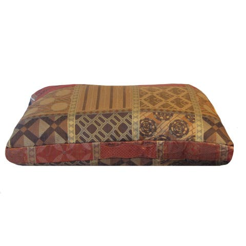 Westgate Red Woven Plush Patchwork Medium to Large Pet Bed