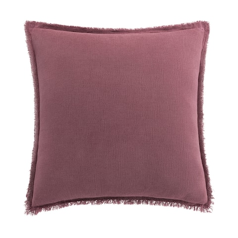 Highline by Habit Reese Berry Washed Chenille Euro Sham