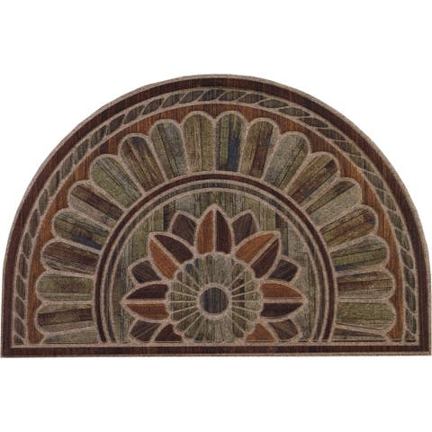 Copper Grove Akhtala Decorative Semi-circular Entry Mat