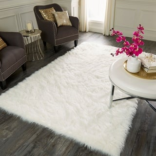 Mohawk Faux Sheepskin White Area Rug