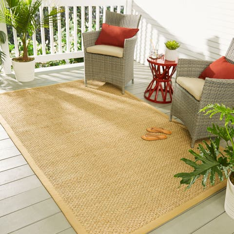 Mohawk Seascape Natural Seagrass Indoor/ Outdoor Area Rug
