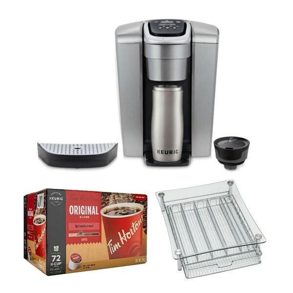 Keurig K-Elite K-Cup Coffee Maker (Brushed Slate) and K-Cups Bundle