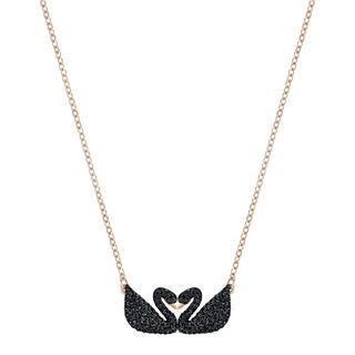 Swarovski Iconic Swan Double Necklace Black 5296468