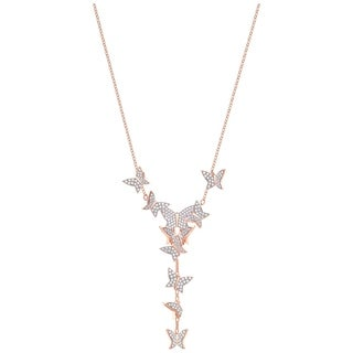 Swarovski Lilia Y Necklace White Rose Gold Plating
