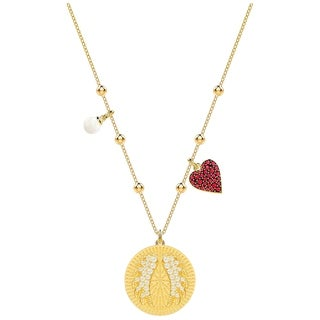 Swarovski Lucky Goddess Wings Necklace Multi Coloured Gold Plating