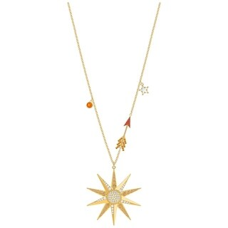 Swarovski Lucky Goddess Star Necklace Multi Coloured Gold Plating