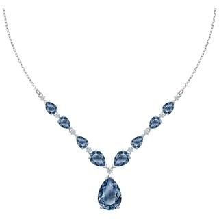 Swarovski Vintage Necklace Blue Rhodium Plated 5472614