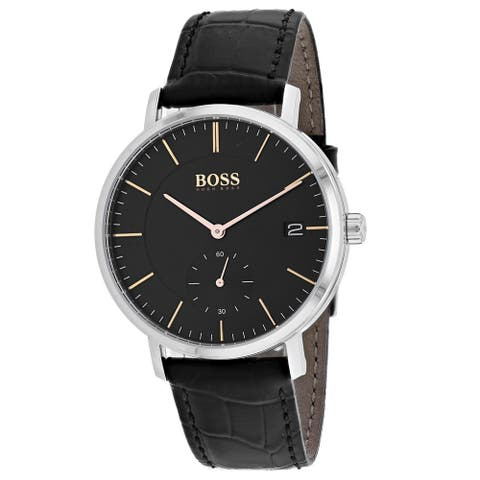 Hugo Boss Men's 1513638 'Corporal' Black Leather Watch
