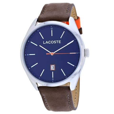 Lacoste Men's 2010910 'San Diego' Brown Leather Watch