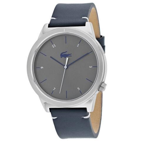 Lacoste Men's 2010989 'Motion' Blue Leather Watch
