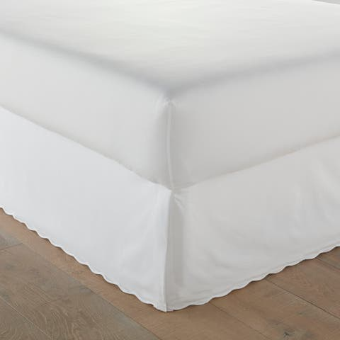 Stone Cottage Scallop White Bedskirt