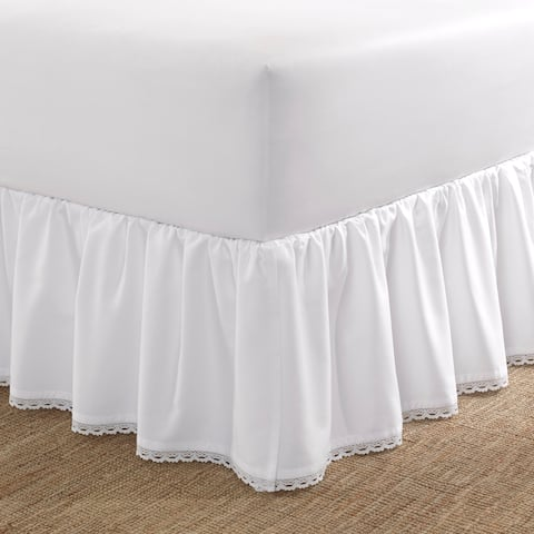 Laura Ashley Crochet Ruffle Bedskirt