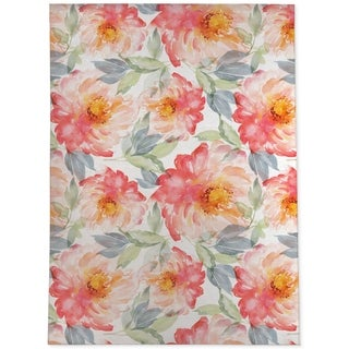 FLORAL LOVE BLUSH Area Rug By Kavka Designs