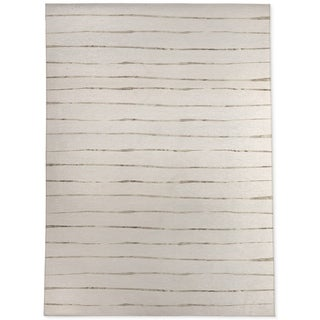 WAVY ABYSS IVORY SMALL Area Rug By Kavka Designs