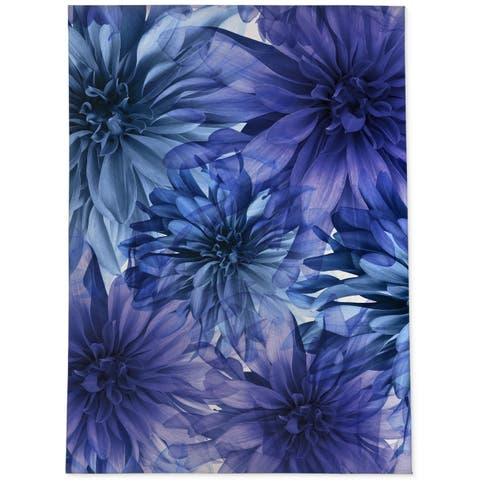 FLORAL BLOOMS VIOLET Area Rug By Jackii Greener