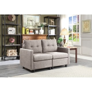Copper Grove Soden 2-piece Grey Linen Fabric Modular Sectional Sofa