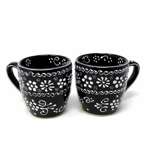 Handmade Encantada Pottery Mugs, Ink