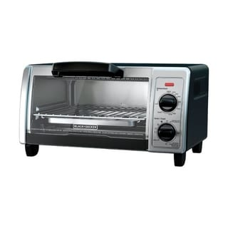Black+Decker  Chrome  Black/Silver  Convection Toaster Oven  9.6 in. H x 17.4 in. W x 12.1 in. L