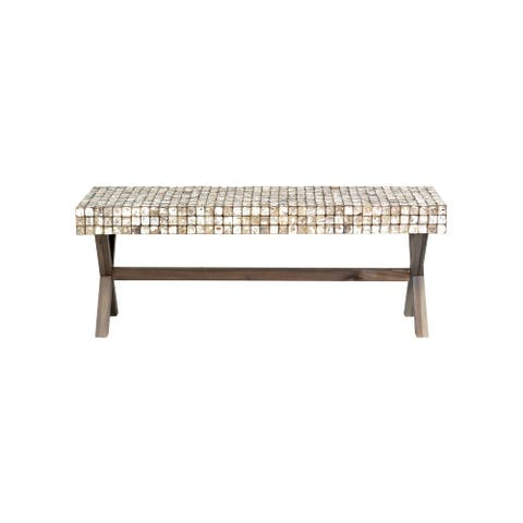 East at Main's Coco Bench, Grey Wash