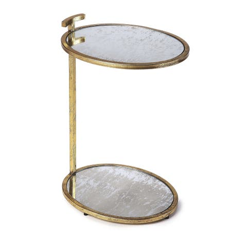 Carson Carrington Tahult Gold Metal & Mirror Side Table