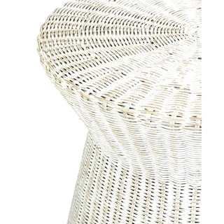 East at Main's Akiman Rattan Accent Table, White