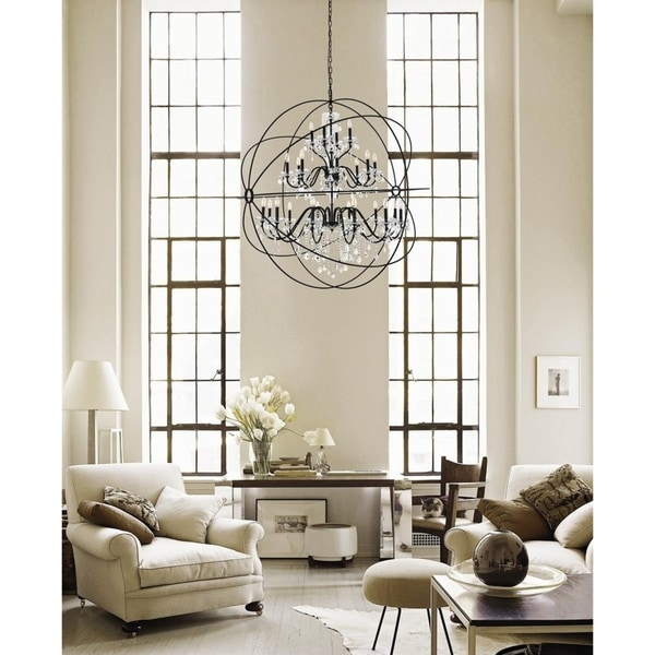 Coller 24-Light Crystal Pendant. Opens flyout.