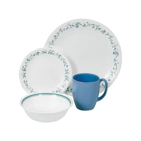 Corelle White Glass/Stoneware Dinnerware Set 16 pc.