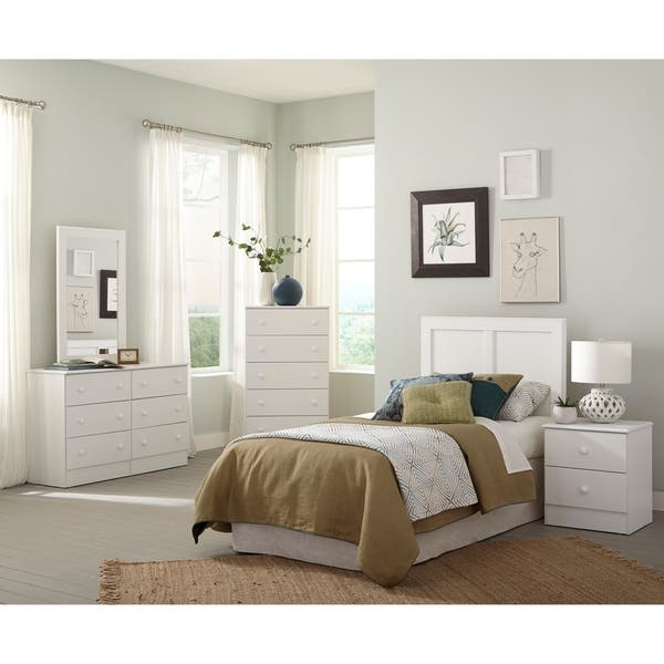 Shop Five Piece White Bedroom set including Twin Headboard ...