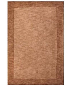 Hand-tufted Beige Border Wool Rug (8'9 x 13')