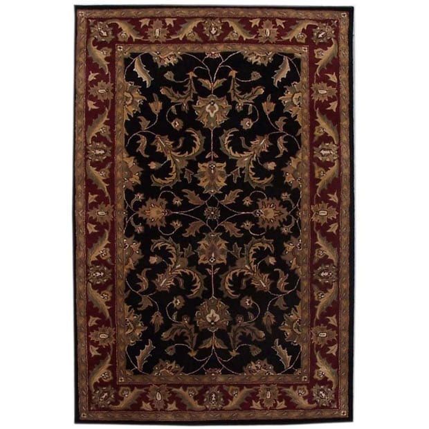 Hand-tufted Corola Black Wool Rug (9' x 13')