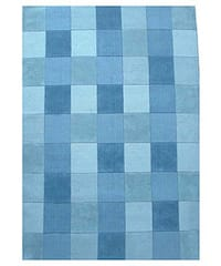 Hand-tufted Blue Tile Wool Rug (8' x 10'6)